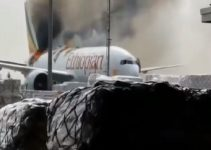 Ethiopian Airlines (Boeing 777 ) Catches Fire at Shanghai Pudong Airport