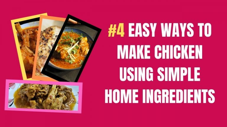 Simple ways to make chicken using home ingredients