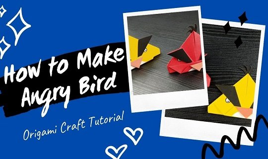 DIY Origami Craft Tutorial - Angry Bird