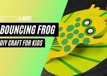 Bouncing Frog – DIY Origami Craft Ideas for kids